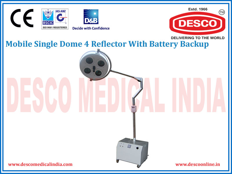 MOBILE SINGLE DOME 4 REFLECTOR WITH BATTERY BACKUP