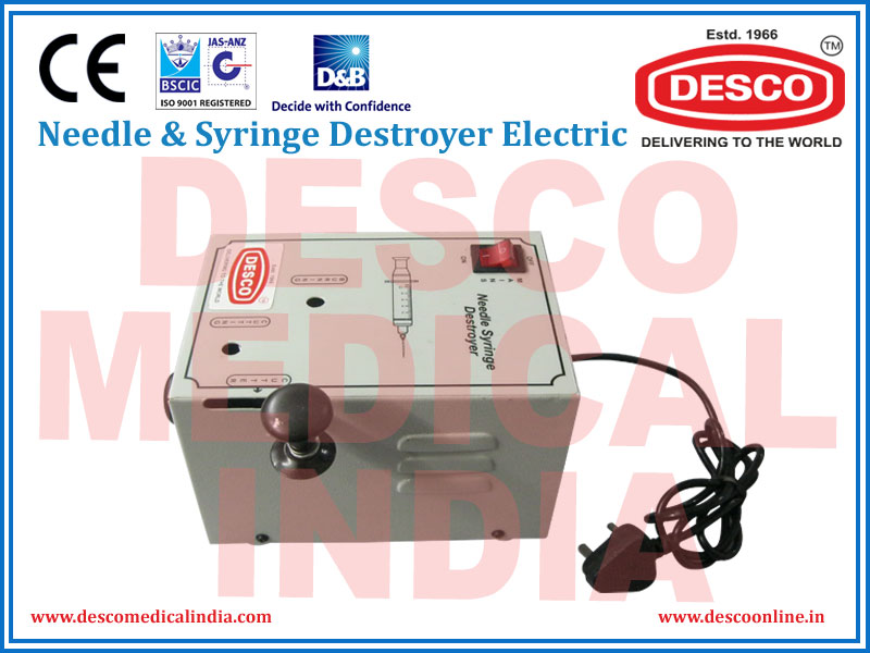 NEEDLE & SYRINGE DESTROYER ELECTRIC