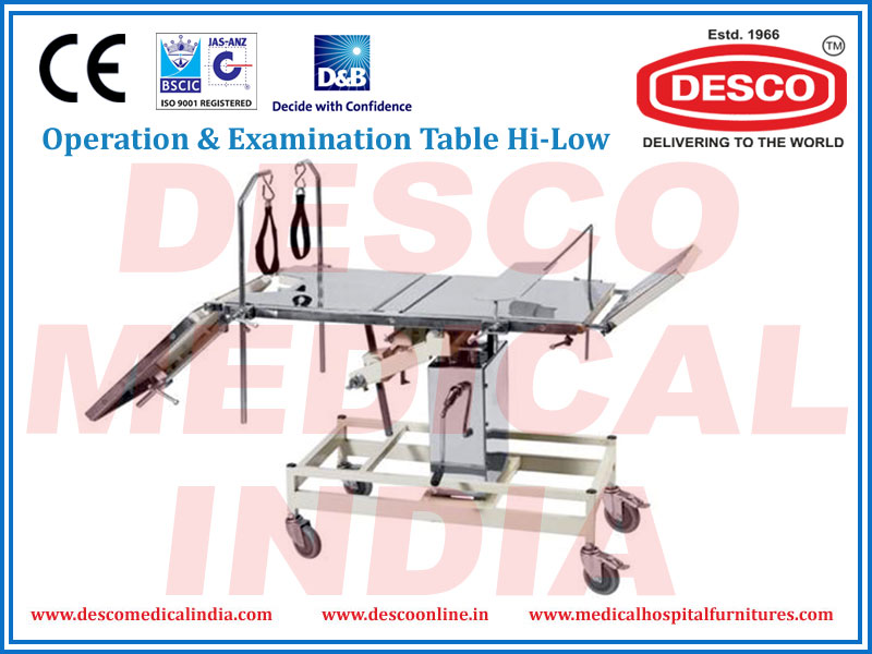 OPERATION & EXAMINATION TABLE HI-LOW