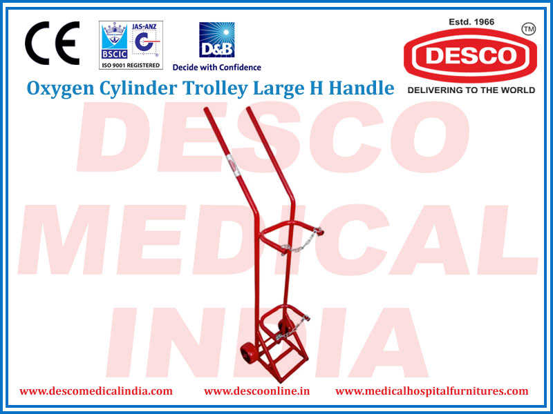 OXYGEN CYLINDER TROLLEY LARGE H HANDLE