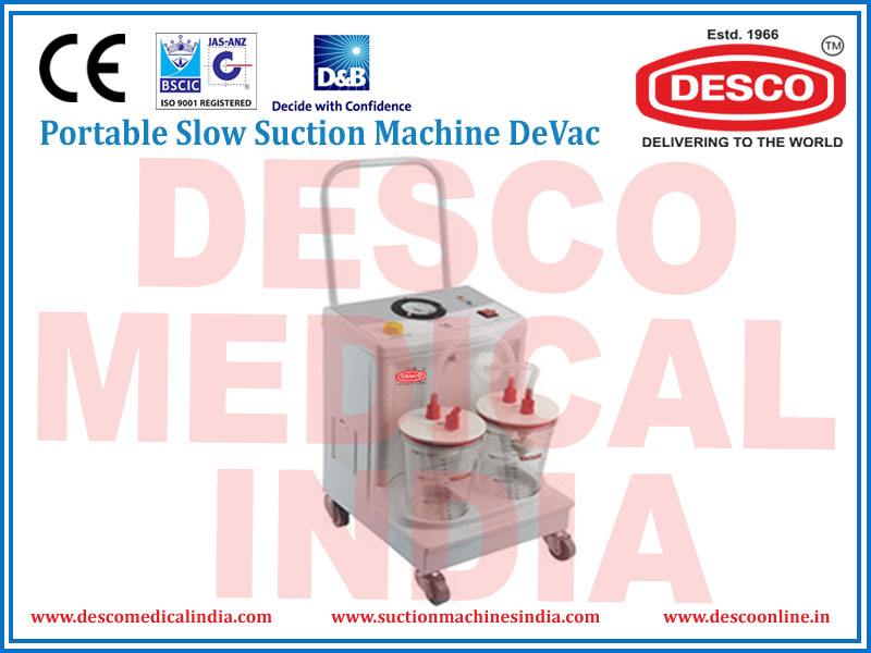 PORTABLE SLOW SUCTION MACHINE DEVAC