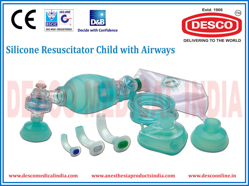 SILICONE RESUSCITATOR CHILD WITH AIRWAYS