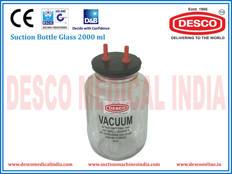 SUCTION BOTTLE GLASS 2000 ML