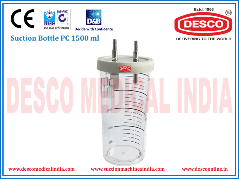 SUCTION BOTTLE PC 1500 ML