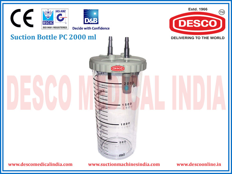SUCTION BOTTLE PC 2000 ML