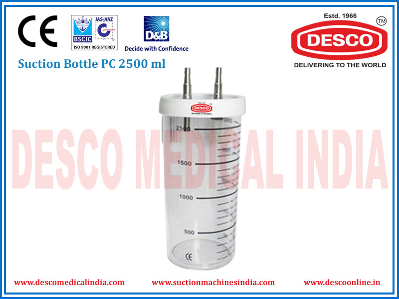 SUCTION BOTTLE PC 2500 ML