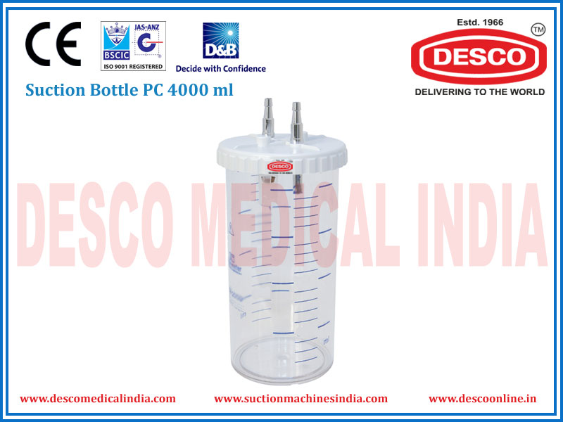 SUCTION BOTTLE PC 4000 ML