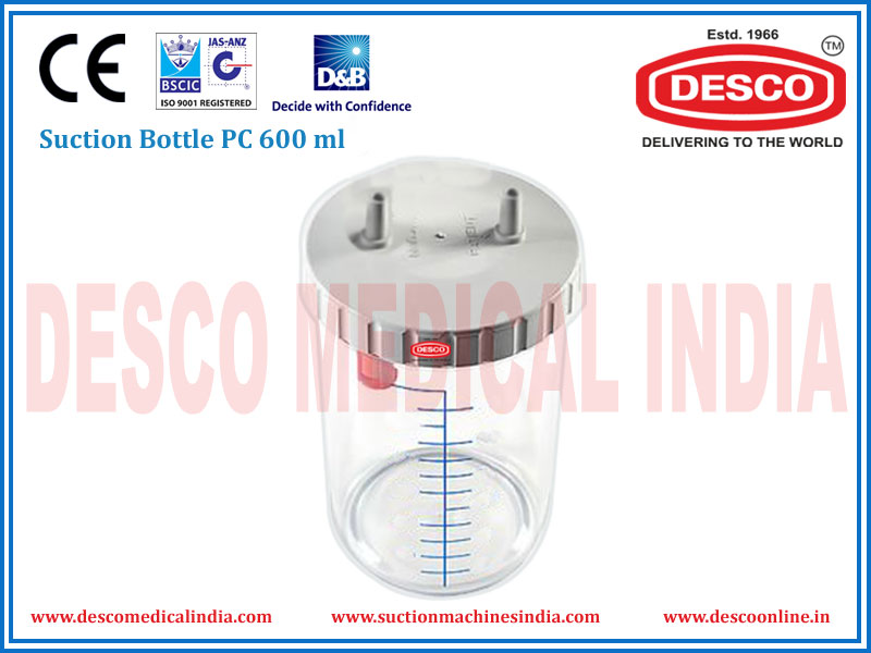SUCTION BOTTLE PC 600 ML
