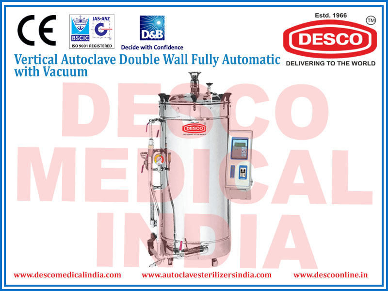 VERTICAL AUTOCLAVE DOUBLE WALL FULLY AUTOMATIC WITH VACCUM