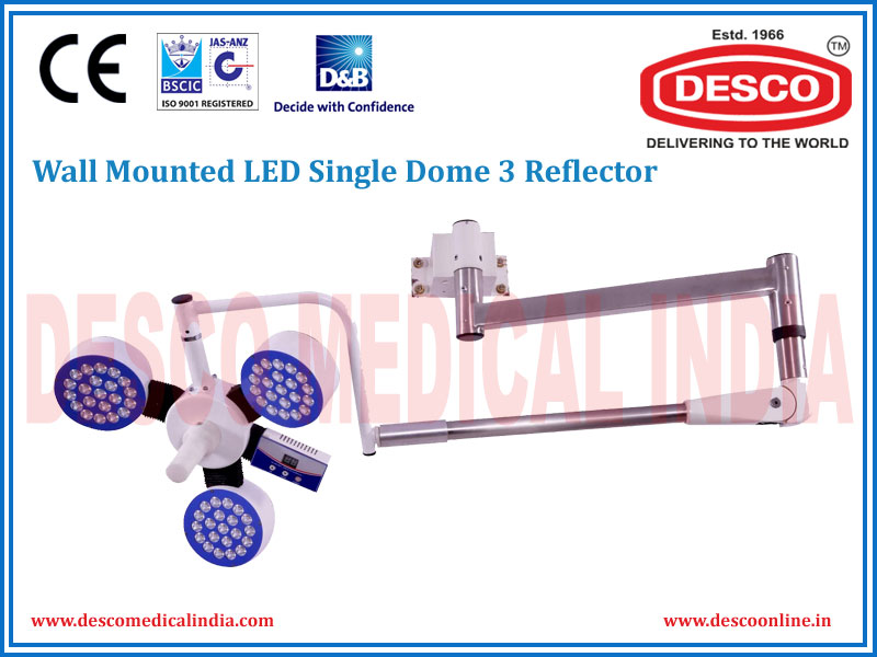 WALL MOUNTED LED SINGLE DOME 3 REFLECTOR