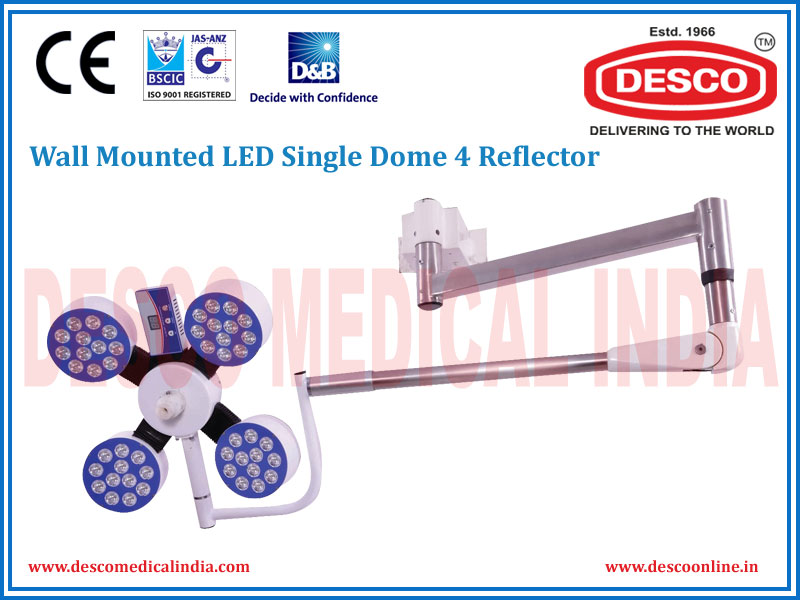 WALL MOUNTED LED SINGLE DOME 4 REFLECTOR