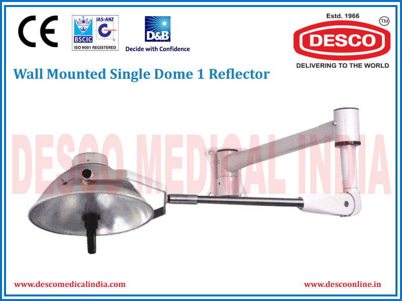 WALL MOUNTED SINGLE DOME 1 REFLECTOR