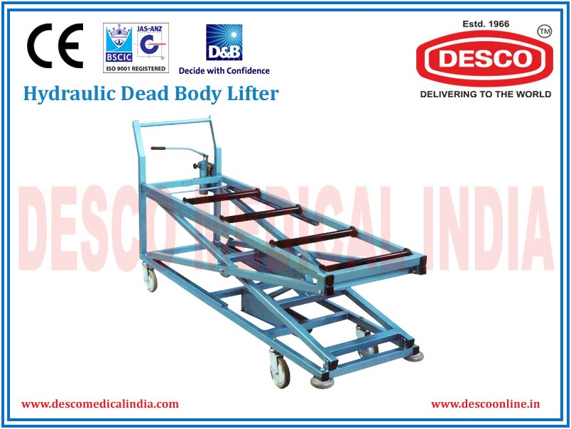 Mortuary Body Lifter Trolley Manufacturers and Exporters India